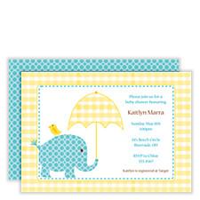 Elephant Shower Baby Shower Invitations