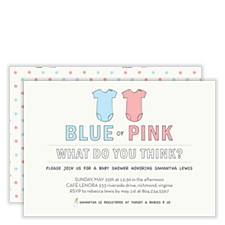 Blue or Pink Baby Shower Invites