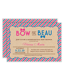 Bow or Beau Baby Shower Invitations
