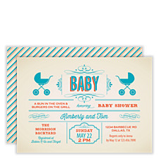 Baby Buggy Baby Shower Invitations
