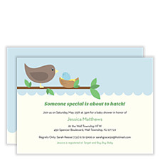 Robin's Egg Baby Shower Invitations