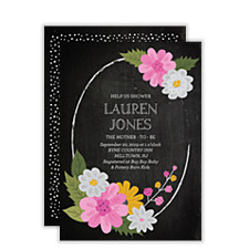 Paint Over Chalk Baby Shower Invitations