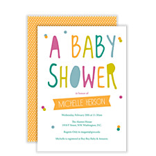 Wonderful Day Baby Shower Invites