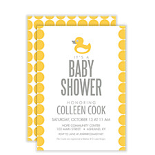 Bubble Duck Baby Shower Invites