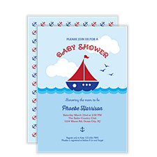 Smooth Sailing Baby Shower Invitations