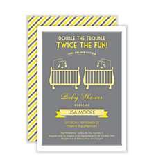 Twice the Fun Baby Shower Invites