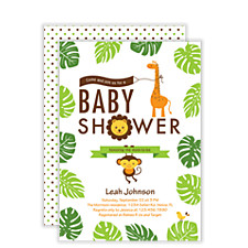 Jungle Party Baby Shower Invitations