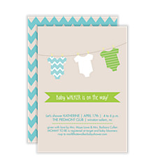 Fresh Wash Baby Shower Invitations