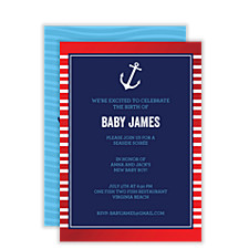 Land Ho Baby Shower Invites