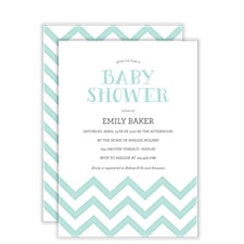 Baby Soft Chevron Baby Shower Invitations