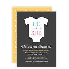 He or She Baby Shower Invites