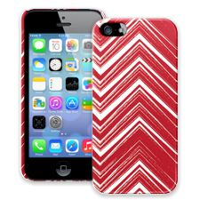 Red & White Scribble Chevron iPhone 5/5s ColorStrong Slim-Pro Case