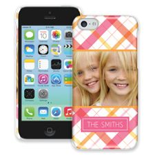 Pink Plaid iPhone 5c ColorStrong Slim-Pro Case