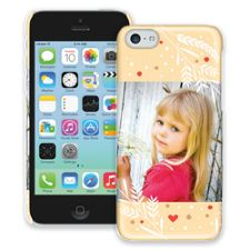 Honey Wheat Heart iPhone 5c ColorStrong Slim-Pro Case