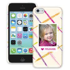 Crayon Splash Pink iPhone 5c ColorStrong Slim-Pro Case