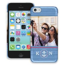 Blue Nautical iPhone 5c ColorStrong Slim-Pro Case