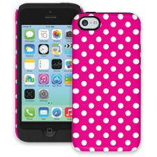 White Polka Dot on Hot Pink iPhone 5c ColorStrong Cush-Pro Case