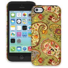 Organic Floral Sage Paisley iPhone 5c ColorStrong Cush-Pro Case