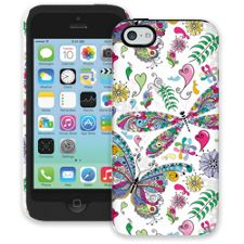 Butterflies and Dragonflies iPhone 5c ColorStrong Cush-Pro Case