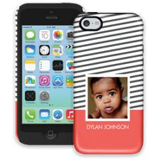 Skinny Stripes iPhone 5c ColorStrong Cush-Pro Case