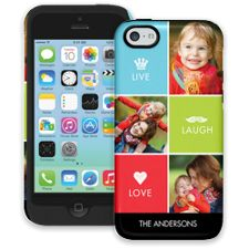 Bright Live Laugh Love iPhone 5c ColorStrong Cush-Pro Case