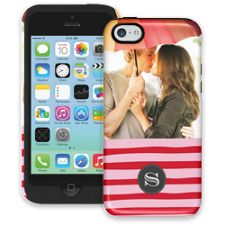 Raspberry Waves iPhone 5c ColorStrong Cush-Pro Case
