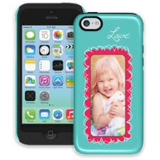 Love Scribbles iPhone 5c ColorStrong Cush-Pro Case