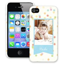 Paper Dots iPhone 4/4s ColorStrong Slim-Pro Case