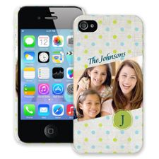 Polka Dot Muslin iPhone 4/4s ColorStrong Slim-Pro Case