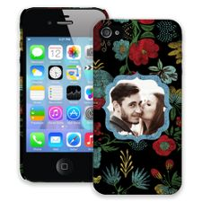 Bright Floral on Black iPhone 4/4s ColorStrong Slim-Pro Case