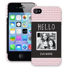 Retro Dots iPhone 4/4s ColorStrong Slim-Pro Case