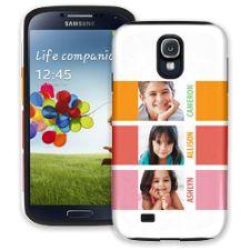 Sherbet Blocks Samsung Galaxy S4 ColorStrong Cush-Pro Case