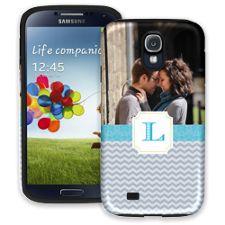 Chevron Initial Samsung Galaxy S4 ColorStrong Cush-Pro Case