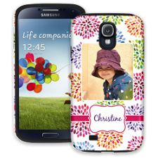 Chrysanthemum Fireworks Samsung Galaxy S4 ColorStrong Cush-Pro Case