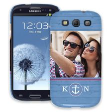 Blue Nautical Samsung Galaxy S3 ColorStrong Slim-Pro Case