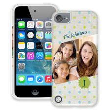 Polka Dot Muslin iPod Touch 5 ColorStrong Cush-Pro Case