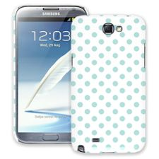 Mint Polka Dot on White Samsung Galaxy Note 2 ColorStrong Slim-Pro Case