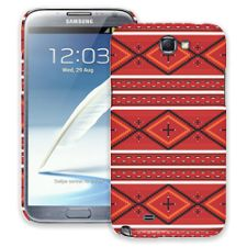 Red and White Tribal Samsung Galaxy Note 2 ColorStrong Slim-Pro Case