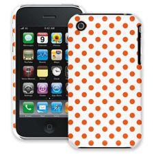 Tangerine Polka Dot on White iPhone 3GS ColorStrong Slim-Pro Case