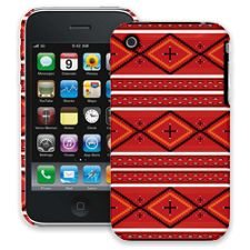 Red and White Tribal iPhone 3GS ColorStrong Slim-Pro Case
