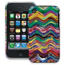 Wavy Paint Swirls iPhone 3GS ColorStrong Slim-Pro Case