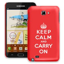 Keep Calm and Carry On Samsung Galaxy Note ColorStrong Slim-Pro Case