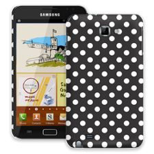 White Polka Dot on Black Samsung Galaxy Note ColorStrong Slim-Pro Case
