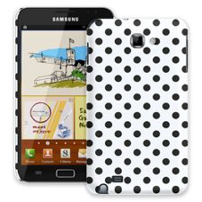 Black Polka Dot on White Samsung Galaxy Note ColorStrong Slim-Pro Case