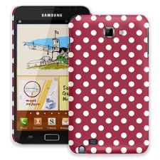 White Polka Dot on Crimson Samsung Galaxy Note ColorStrong Slim-Pro Case