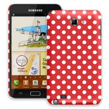 White Polka Dot on Red Samsung Galaxy Note ColorStrong Slim-Pro Case