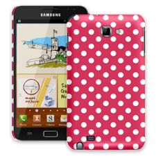 White Polka Dot on Berry Samsung Galaxy Note ColorStrong Slim-Pro Case