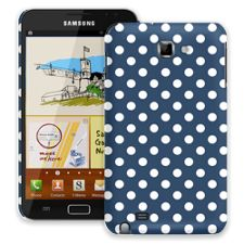 White Polka Dot on Navy Samsung Galaxy Note ColorStrong Slim-Pro Case