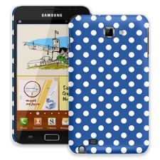 White Polka Dot on Royal Blue Samsung Galaxy Note ColorStrong Slim-Pro Case