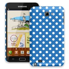 White Polka Dot on Blue Samsung Galaxy Note ColorStrong Slim-Pro Case